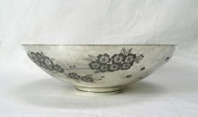 """Kirk & Sons Sterling Bowl """"cherry Blossoms"""" #88"""
