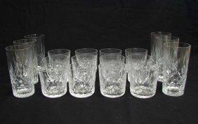 Set Of 18 Waterford Lismore Glasses, Highball, Etc