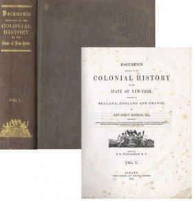Book Colonial History New York John Romeyn Brodhead NY
