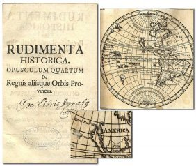 Book Rudimenta Historica Volume German History 1728 Map