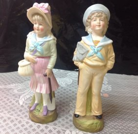 Germany Bisque Figures Pair