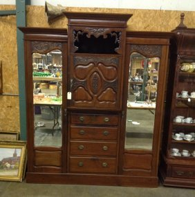 Super English Mahogany Princess Wardrobe