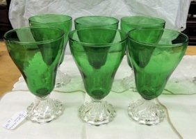Forest Green Berpie Water Glasses