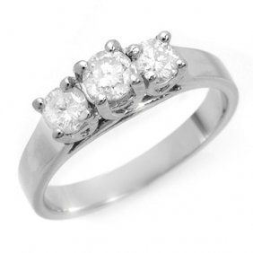 Natural 0.75 Ctw Diamond Bridal Engagement Ring 14k