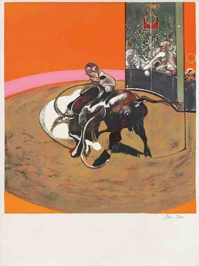 Study For A Bullfight By Francis Bacon, Lithograph 1971
