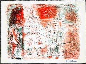 L Ecuyère Et Les Clowns By Pablo Picasso, Printed 1957