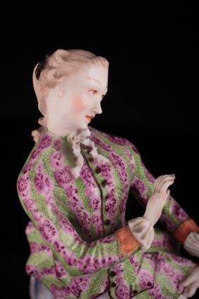 Nymphenburg Porcelain Figure Of Lady, Franz Anton