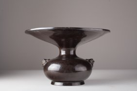 A Ming Dynasty Chinese Bronze Spittoon