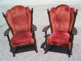 Two - 19th Century - Antique Wingback Chairs