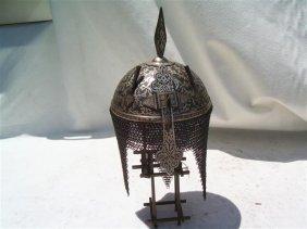 Indo Persian Helmet - Rajput Engraved Khula Khud Helmet