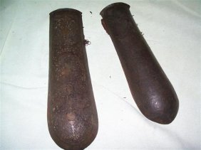 Important Set Of Antique Persian Elbow Guard Bazu Band