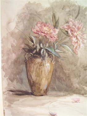 Antique Listed Watercolor Painting By Otto Heinigke