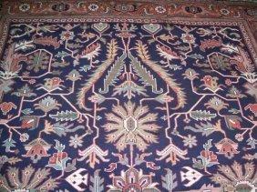 Indian Heriz Design Handwoven Room Size Rug 9 By 12