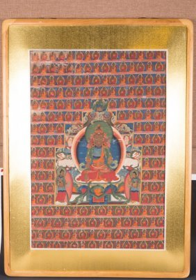 Chinese Framed Thangka Of Tara