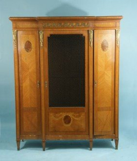 LOUIS XVI STYLE BOOKCASE WITH INLAY, CIRCA 1890
