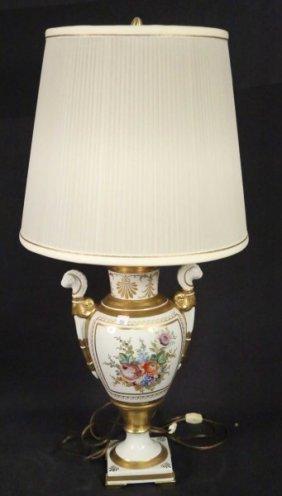 Vintage Porcelain Neoclassical Taste Urn Now Lamp