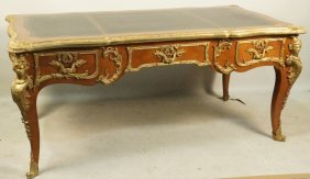 Circa 1900-1920 French Leather Top Desk