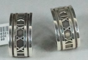 Pair Of Tiffany & Co. Sterling Silver Earrings