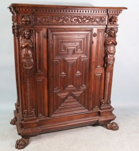 17th Century French Walnut Cabinet