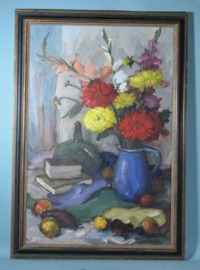 Oil On Canvas Still-life Painting