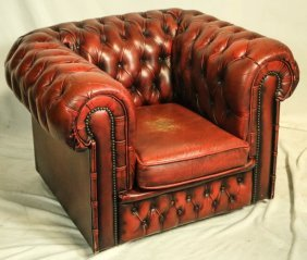 Vintage Chesterfield Leather Club Chair