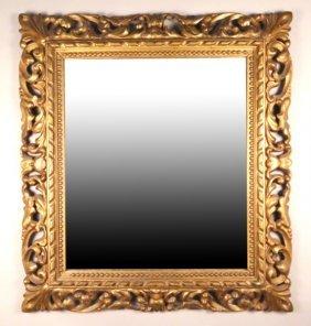 18th Century Italian Carved & Gilt Framed Mirror