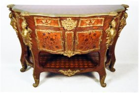 Louis Xv Style Ormolu Commode With Writing Drawer