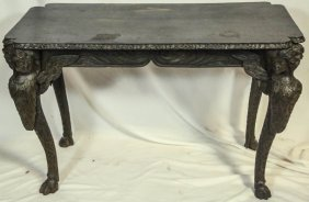 18th Century Continental Oak Console Table