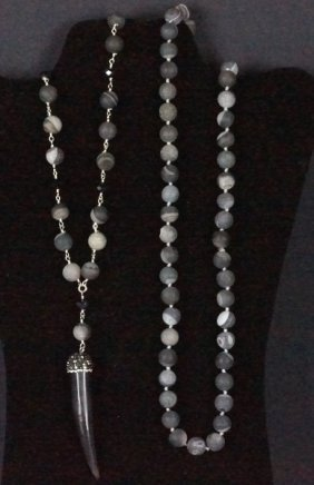 Black Onyx Swarovski Drop Necklace & Onyx Necklace