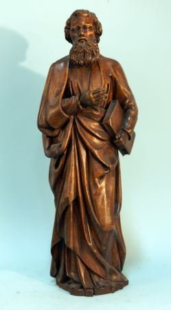 French Wood Carved Statue Of St.john