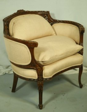 Vintage Louis Xvi Style Chair With Gondola Back