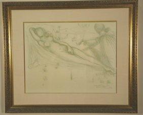Salvador Dali Nude Female Signed & Numbered Print