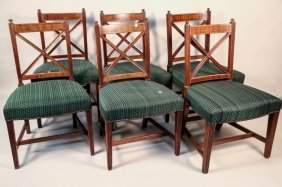 Lot Of Seven Antique Federal Style Mahogany Chairs