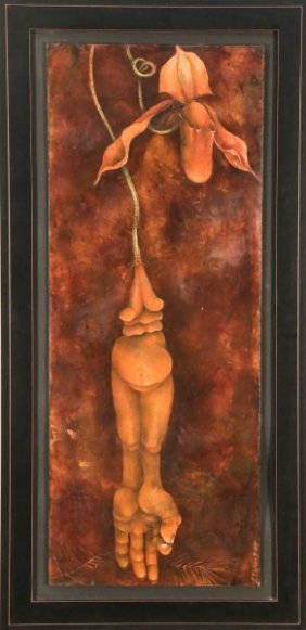 "Shawn Turung ""ripe"" Acrylic On Panel Painting, '05"
