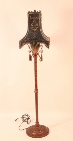 Chinese Style Floor Lamp With Metal Shade