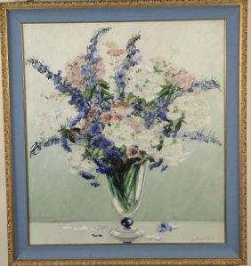 Jospeh Kane Floral Still Life Oil On Canvas