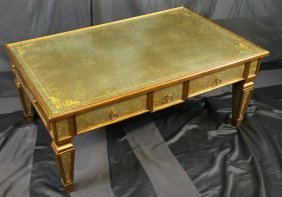 Theodore Alexander Glass Top Coffee Table