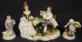 Lot Of Three German Porcelain Figurines