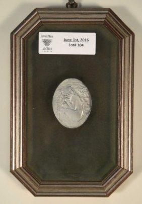 Framed Sterling Silver Santucci Medallion