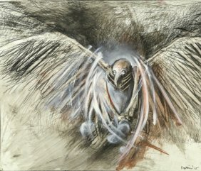 "Sharon Kopriva ""brooder"" Charcoal On Paper, 2005"