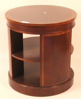 Pair Of Round Mahogany End Tables