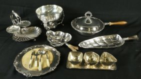 Lot Of 12 Silverplated Servingware Pieces