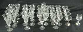 Mixed Lot Of 38 Glassware Pieces