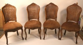Set Four French Louis Xv Style Side Chairs