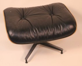Herman Miller Button-tufted Leather Seat Ottoman