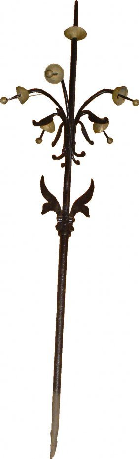 IRON & BRASS VICTORIAN MULTI-BRANCH ROOF FINIAL 29