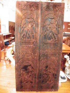 QUAIPAR CARVED TEAKWOOD PANEL 1512