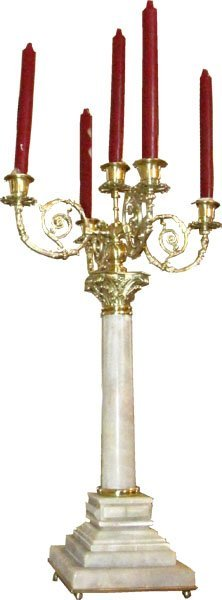 PR OF MRBL & BZ DECORATIVE CANDLEABRAS 3416