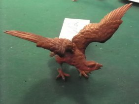 SMALL BZ  SCULPTURE OF EAGLE W/SPREAD WINGS 1602