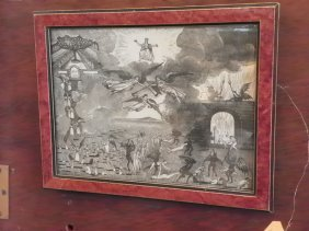 "FRAMED PRINT ENTITLED ""THE LAST JUDGEMENT"" 3964A"